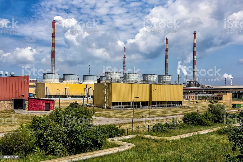 Phosphate Fertilizer Plant in Police, Poland stock photo