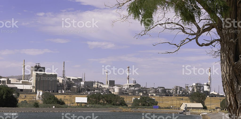 Phosphate Fertilizer Plant in South Eastern Idaho stock photo