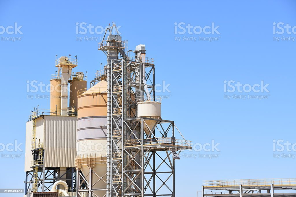 phosphate production plant stock photo