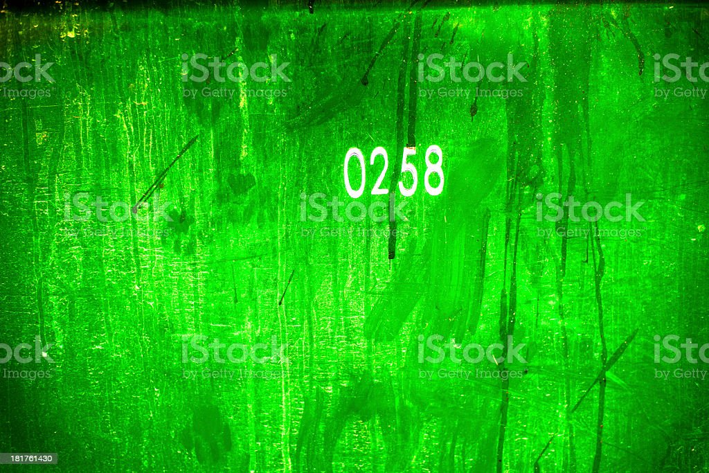 Phosphor Green Number Background stock photo