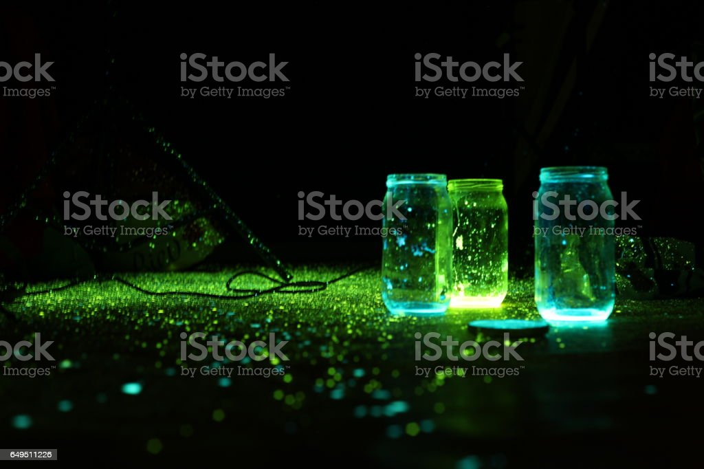 phosphorus glowstick stock photo