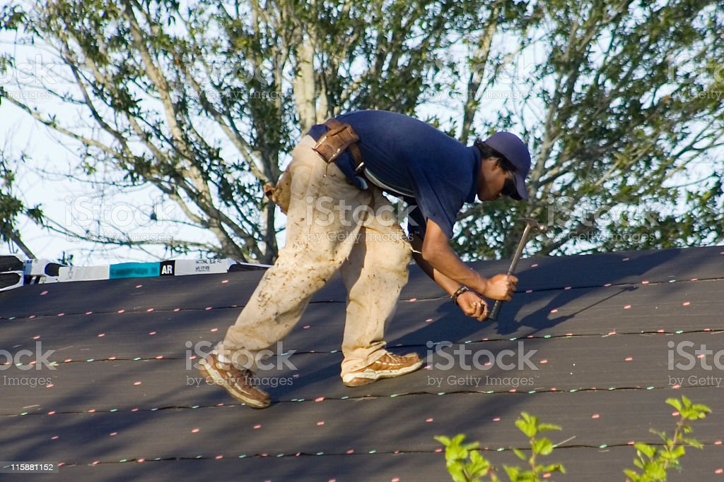 Photo a Roofer royalty-free stock photo