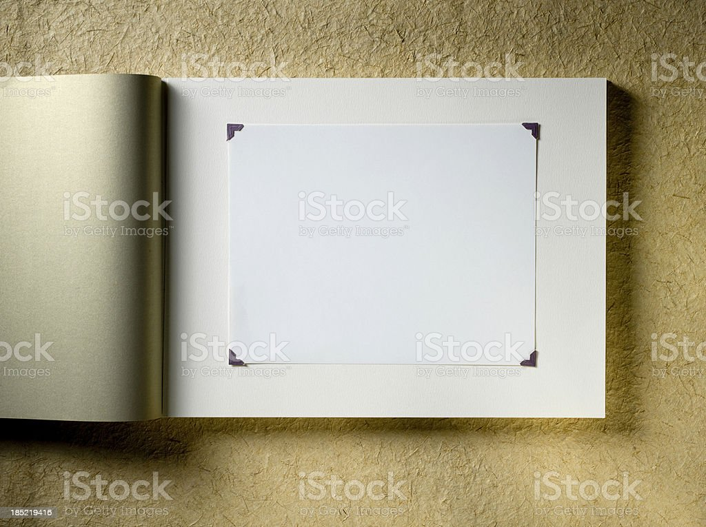 Photo album stock photo