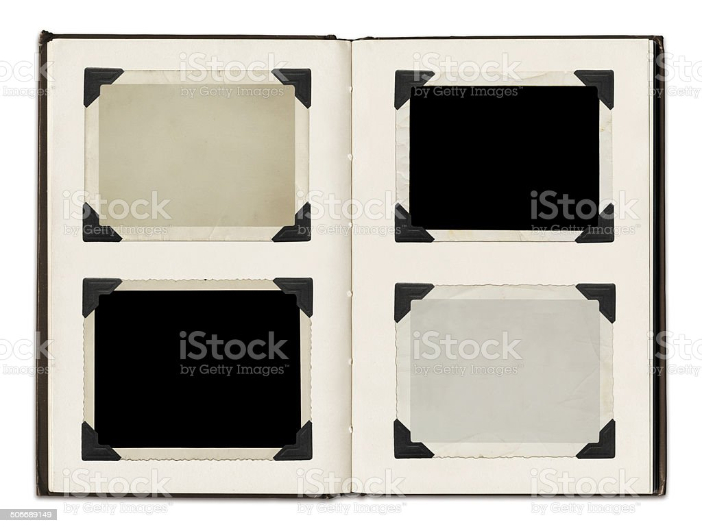 Photo Album with clipping path stock photo