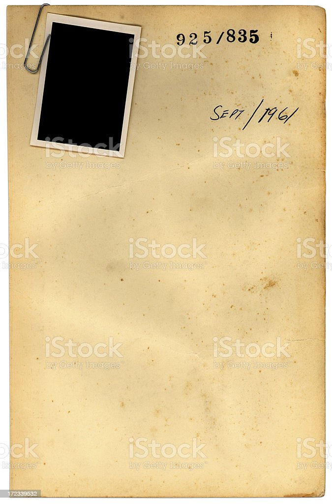 photo and paper royalty-free stock photo