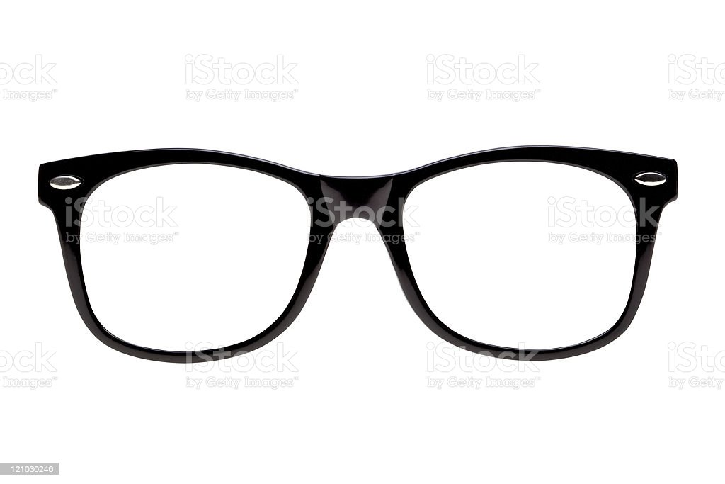 Photo Black nerd spectacle frames stock photo