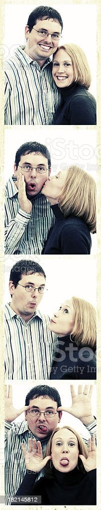 Photo booth fun. royalty-free stock photo