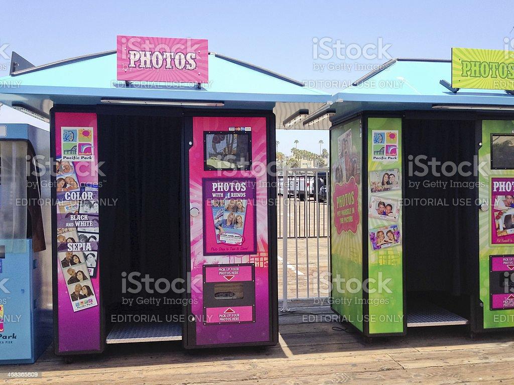 Photo Booth on Santa Monica Pier stock photo