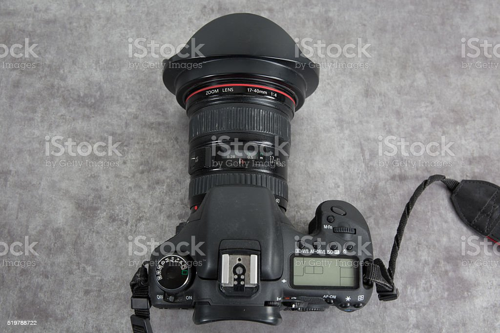 photo camera top view isolated on white stock photo