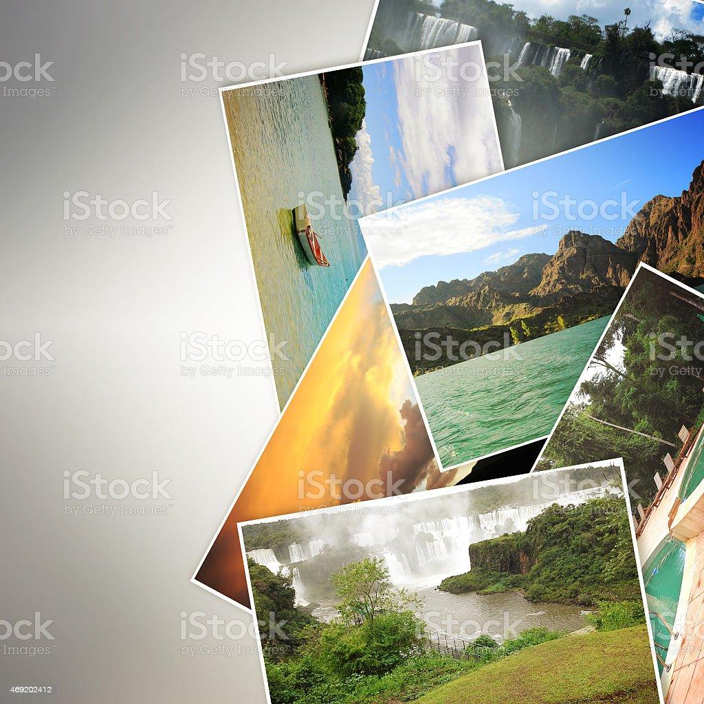 photo collage stock photo