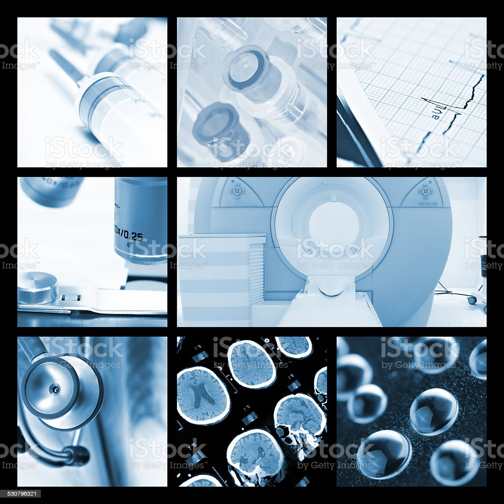 photo collection of medical Objects and technologies stock photo