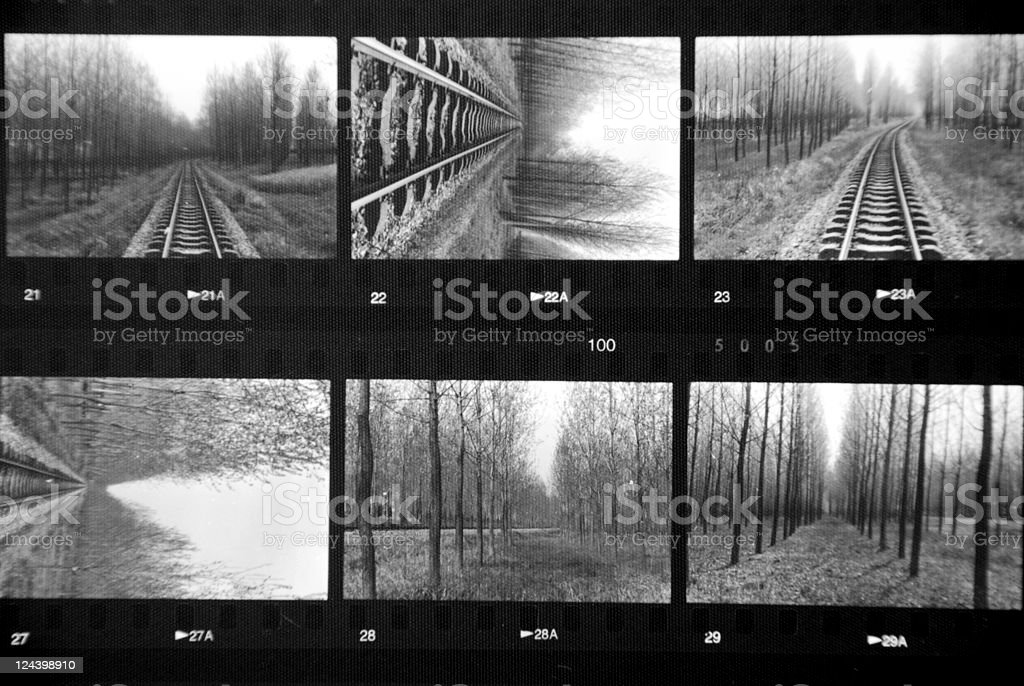 photo contact Sheet stock photo