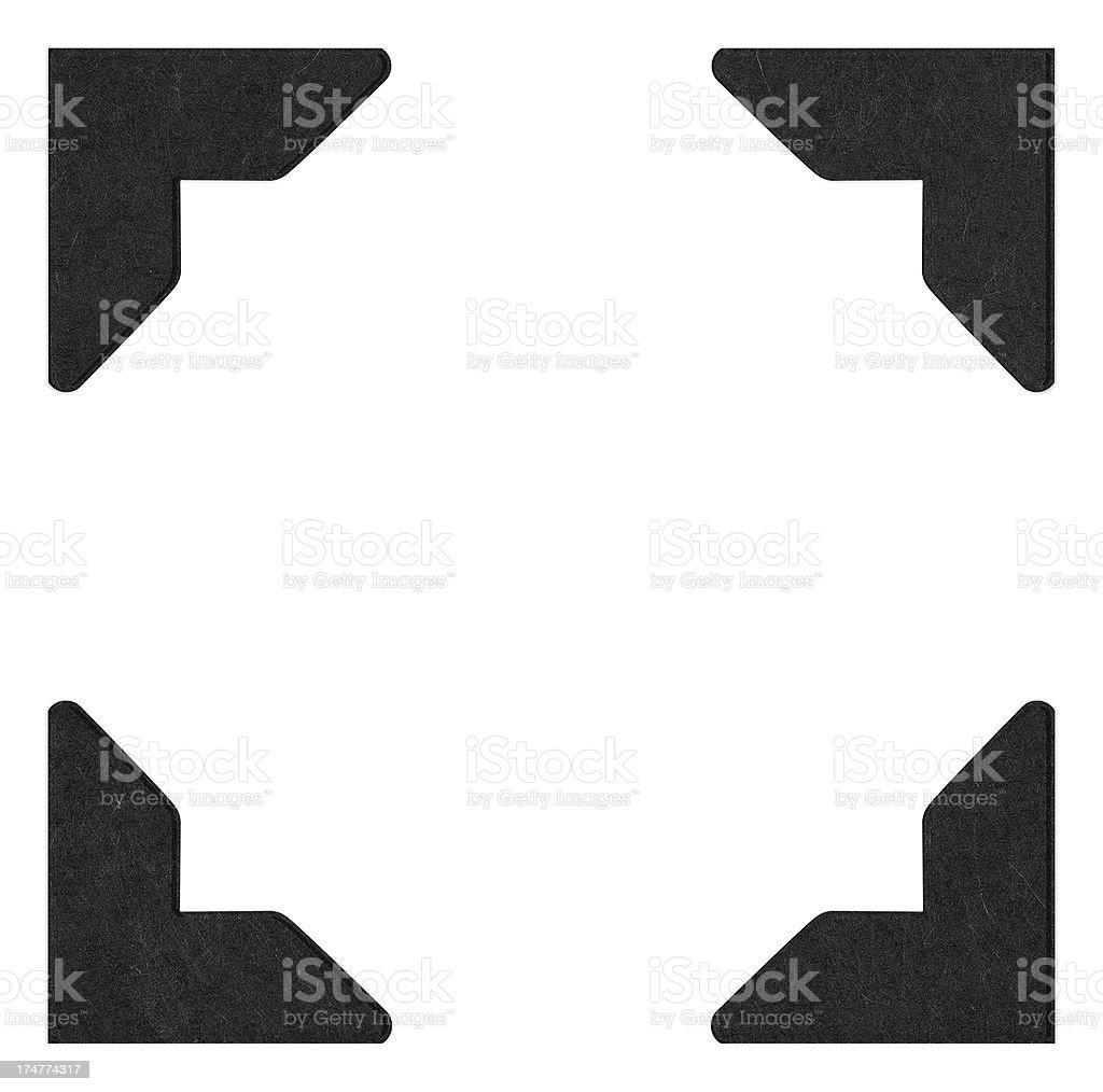 Photo Corner (Clipping Path) stock photo