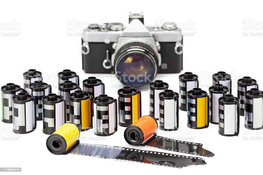 Photo film cartridges stock photo