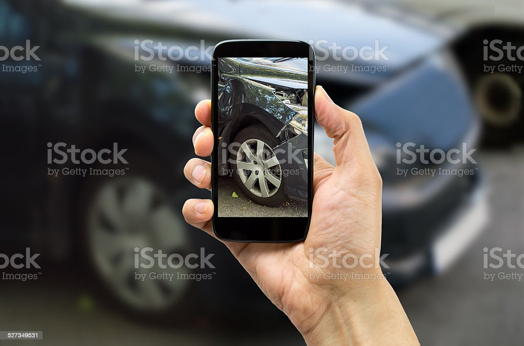 photo for accident insurance stock photo