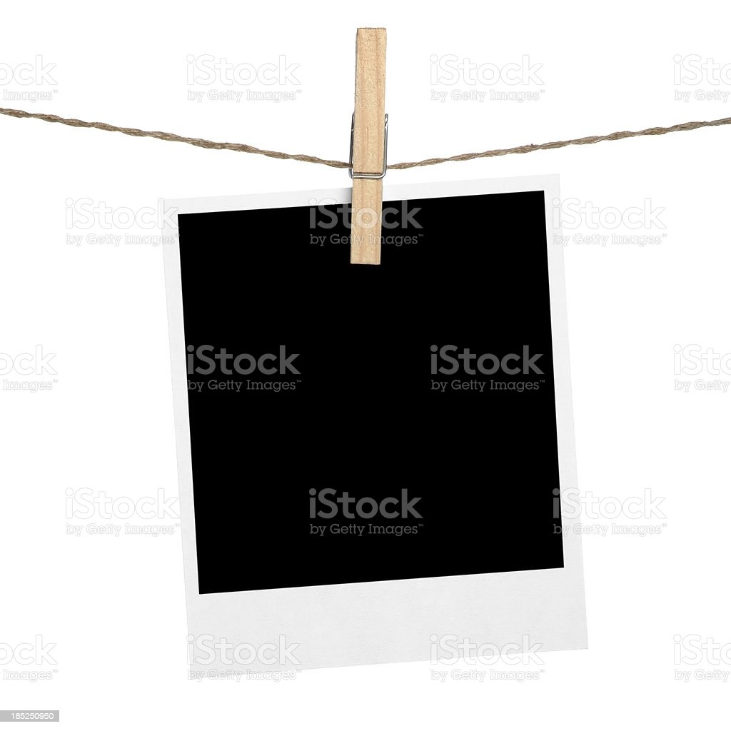 Photo frame hanging stock photo