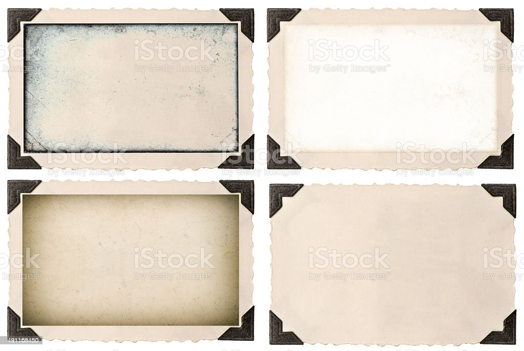 Photo frame mock up with corner and empty field stock photo
