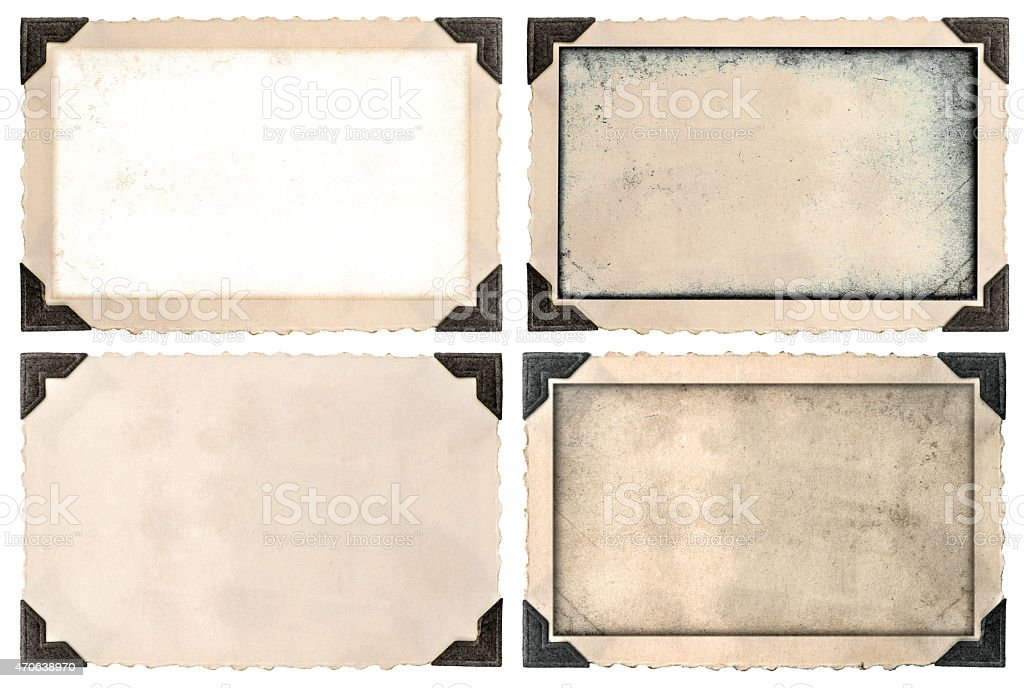 Photo frame mock ups with corner, edges and empty field stock photo