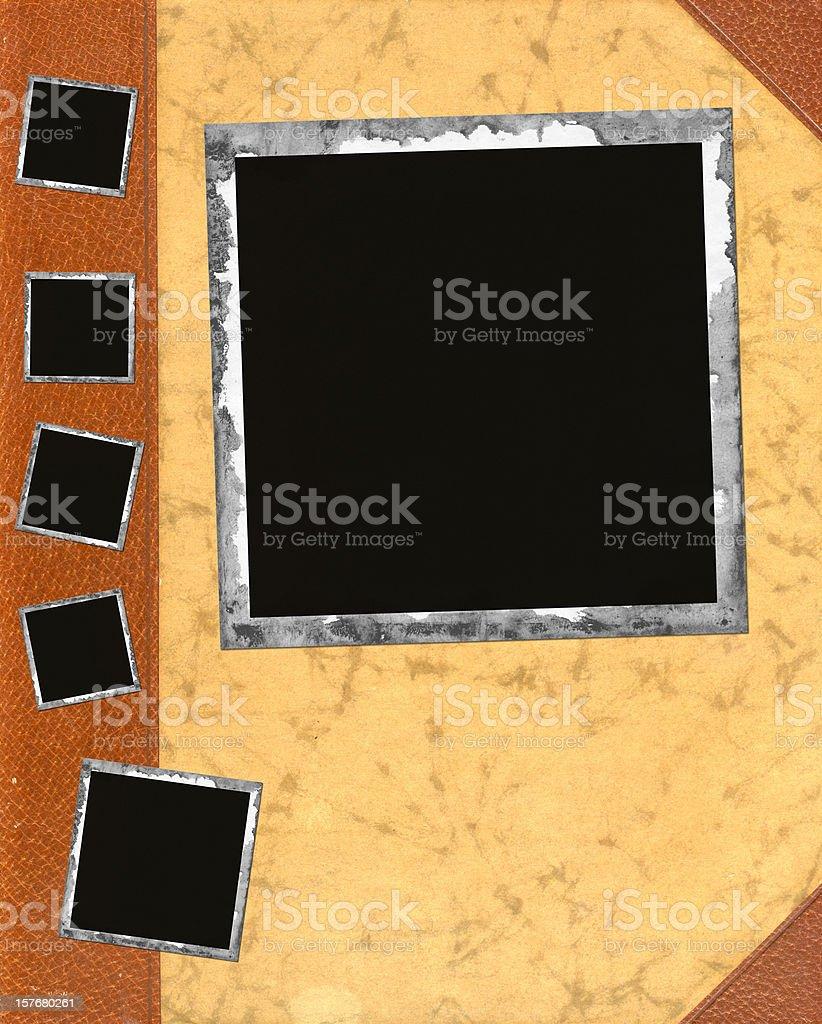 Photo frame on book royalty-free stock photo
