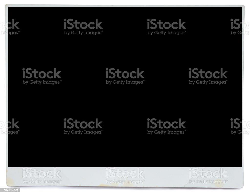 photo frame on white stock photo