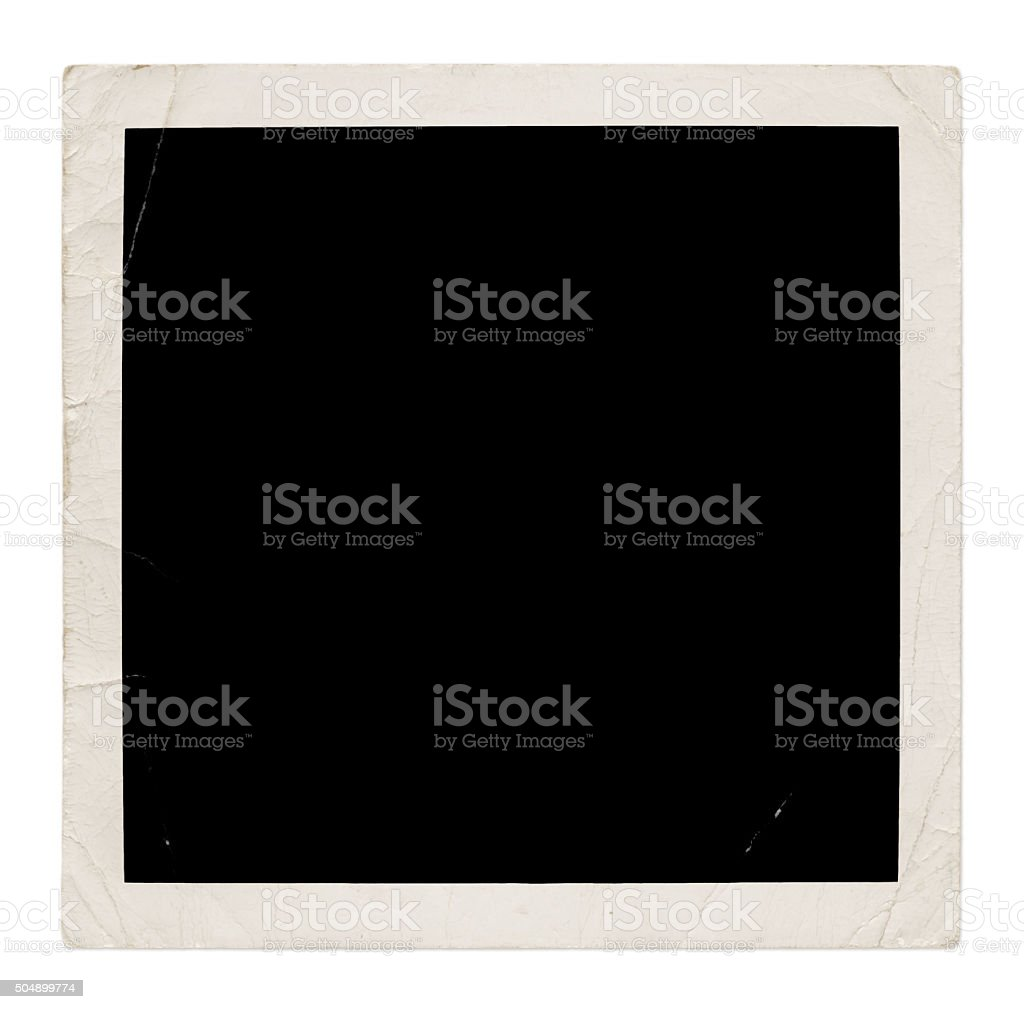 Photo frame (with path) stock photo