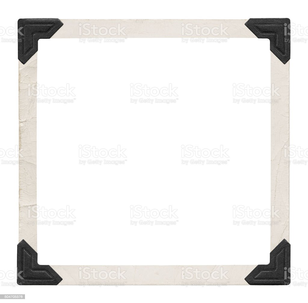 Photo frame with black corners (with path) stock photo