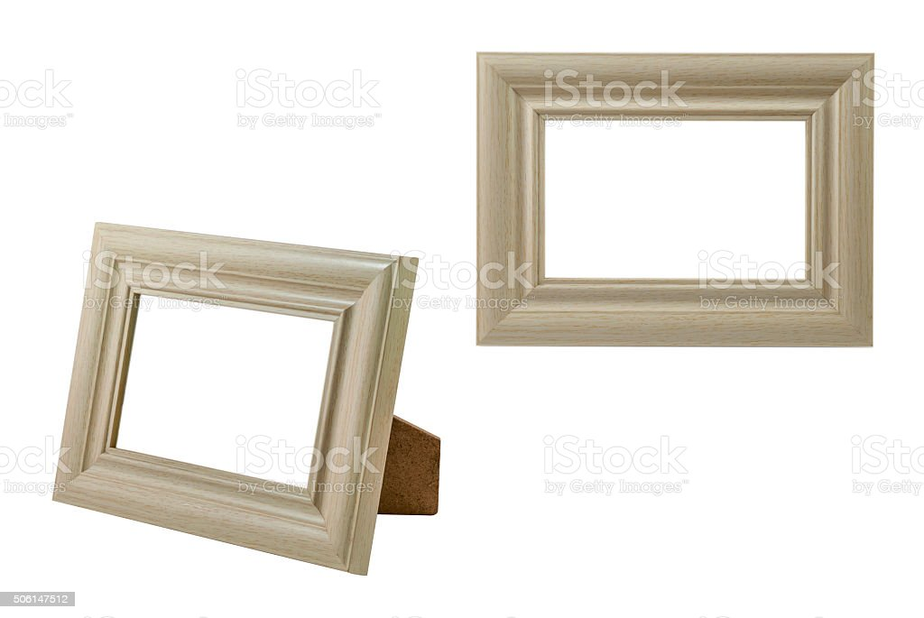 Photo frame with clipping path isolated stock photo