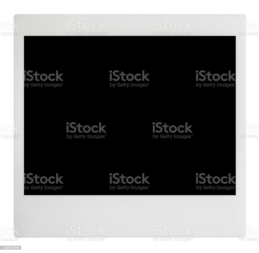 Photo Frame with Clipping Paths royalty-free stock photo