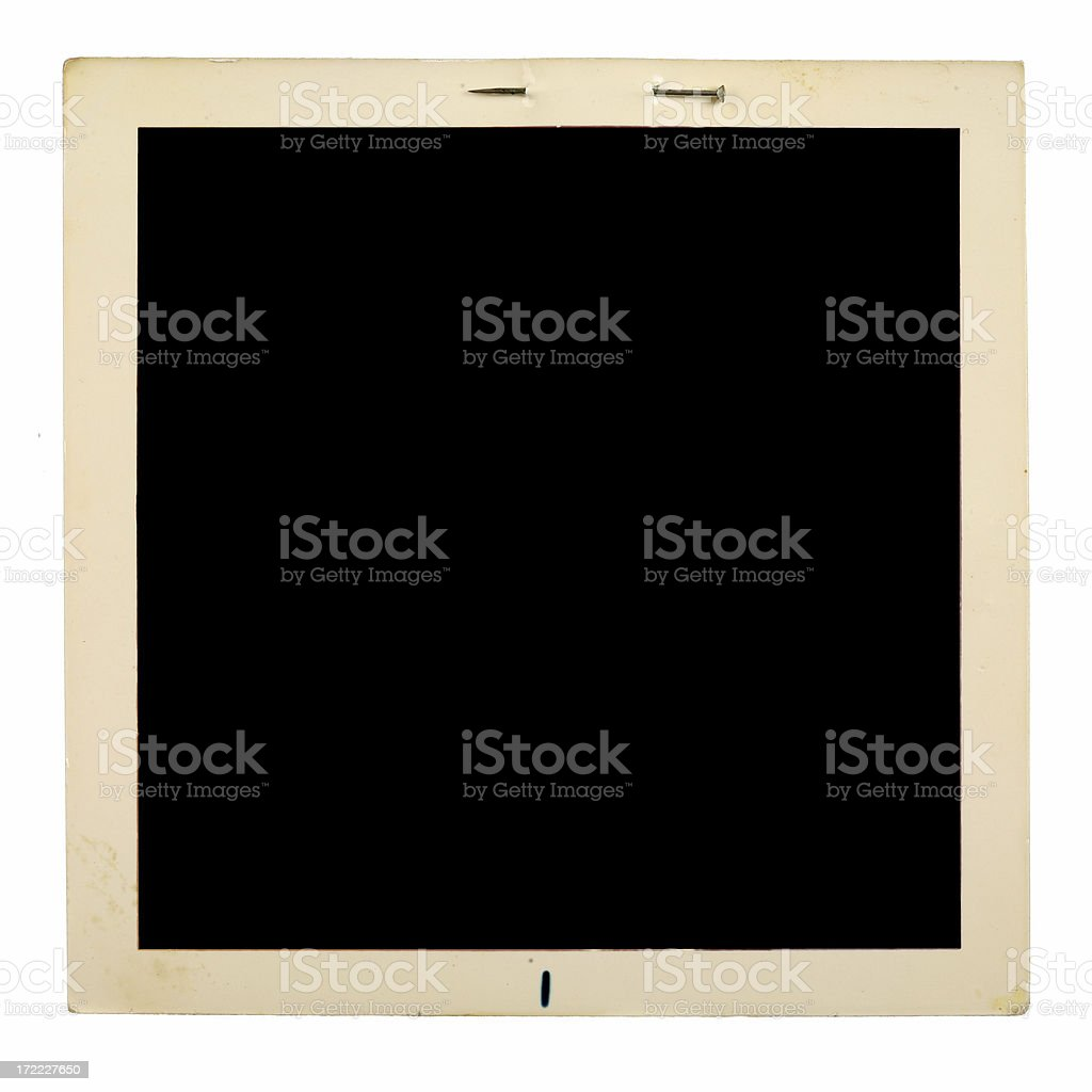 Photo Frame with Rusted Straight Needle royalty-free stock photo