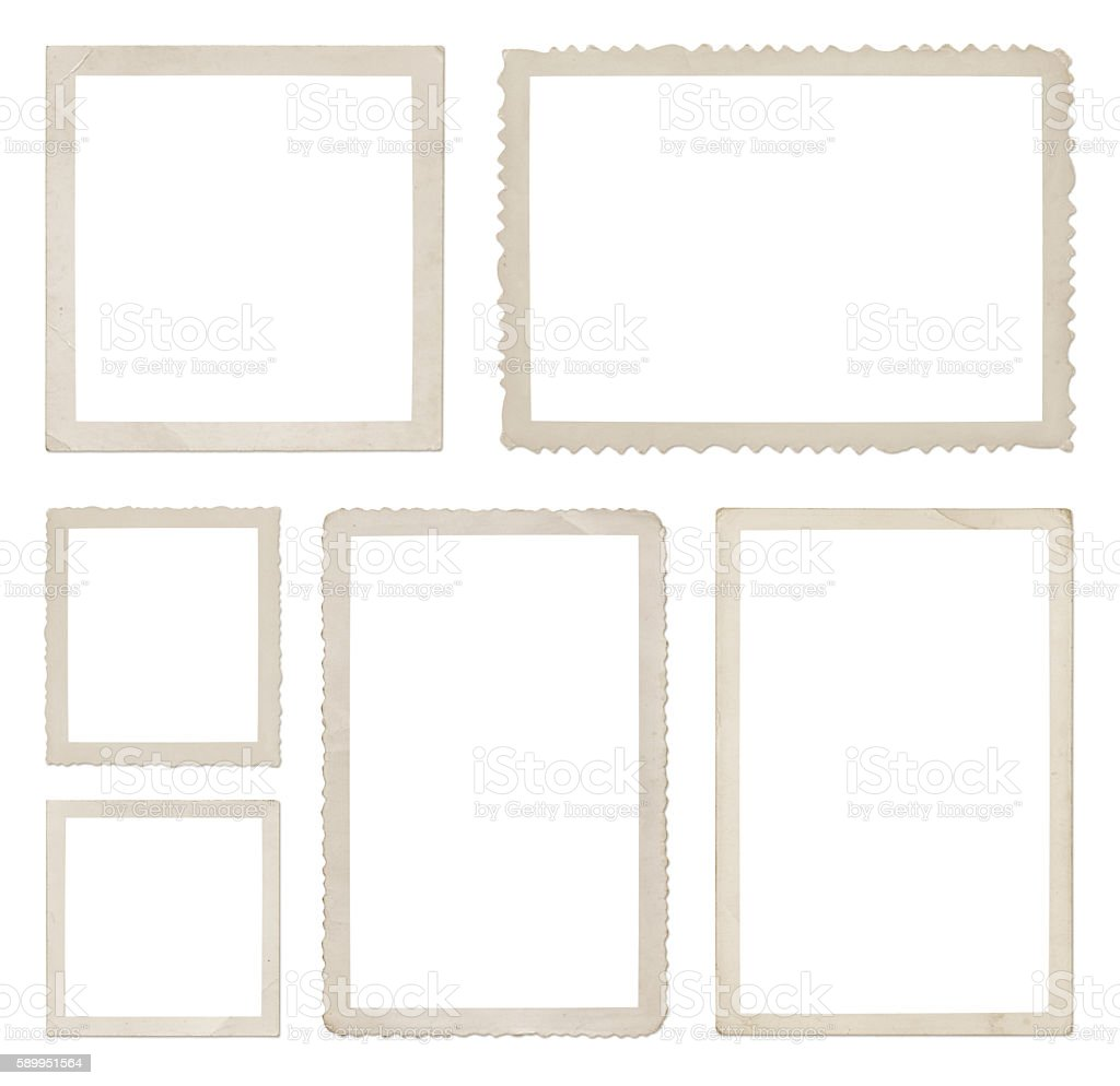 Photo Frames Collection (with paths) stock photo