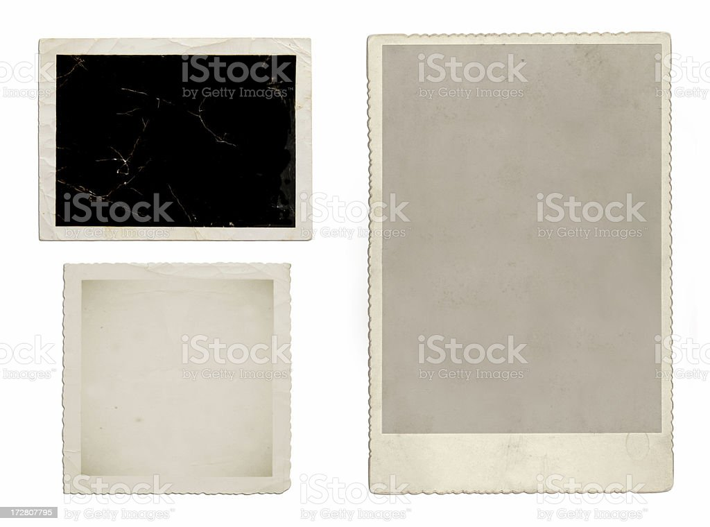 Photo frames for vintage album effect royalty-free stock photo