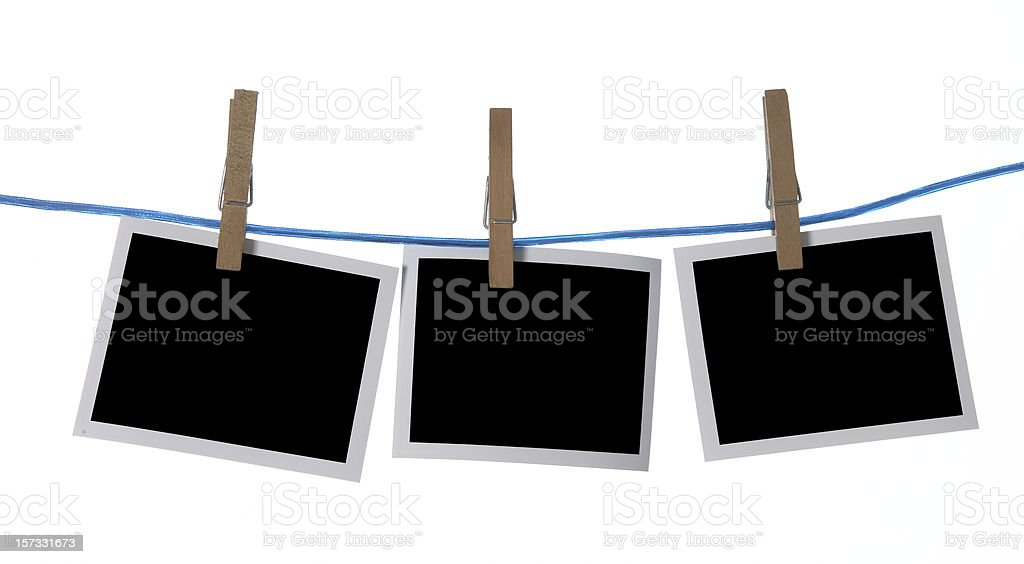 Photo frames in a row with clipping path royalty-free stock photo