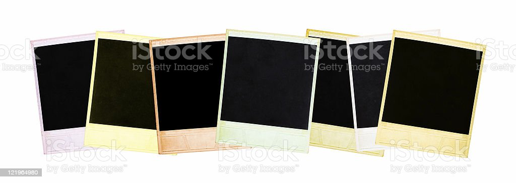 Photo frames isolated on white royalty-free stock photo