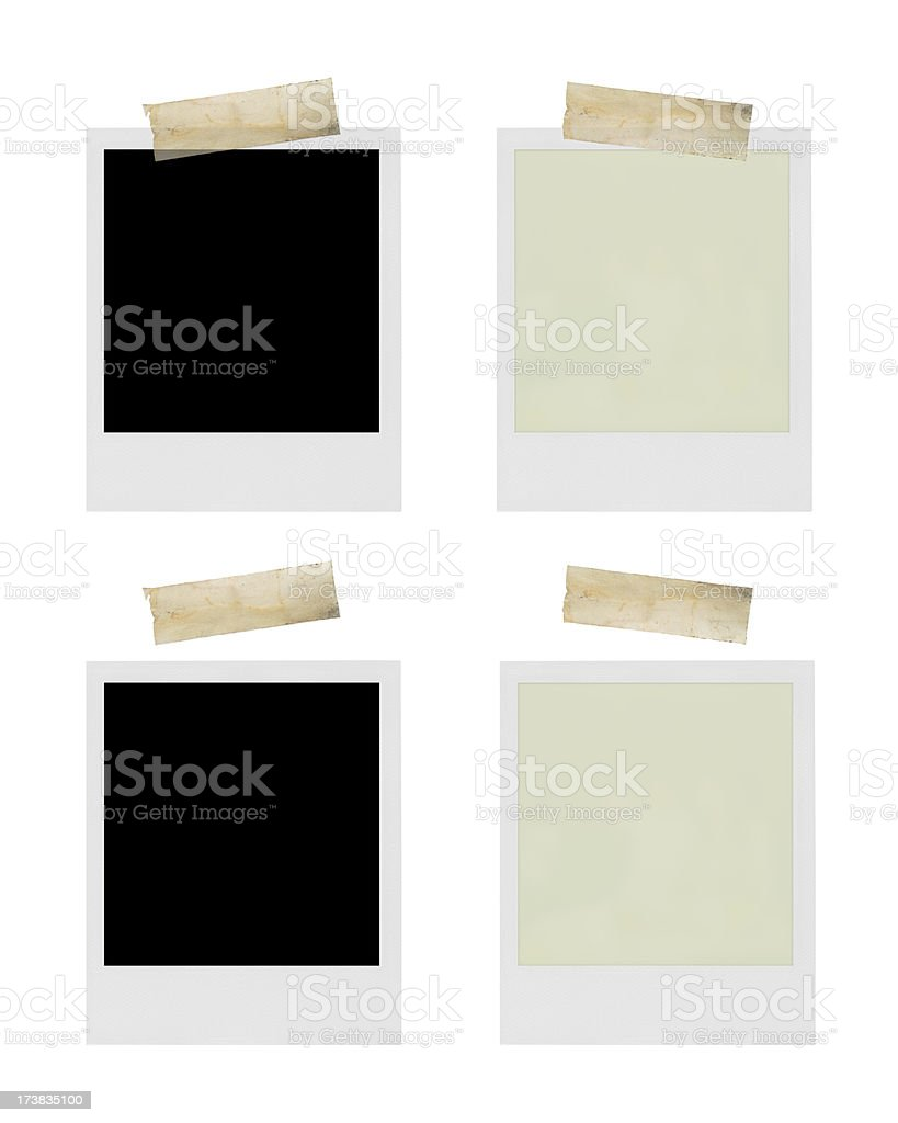 Photo frames with adhesive tape royalty-free stock photo