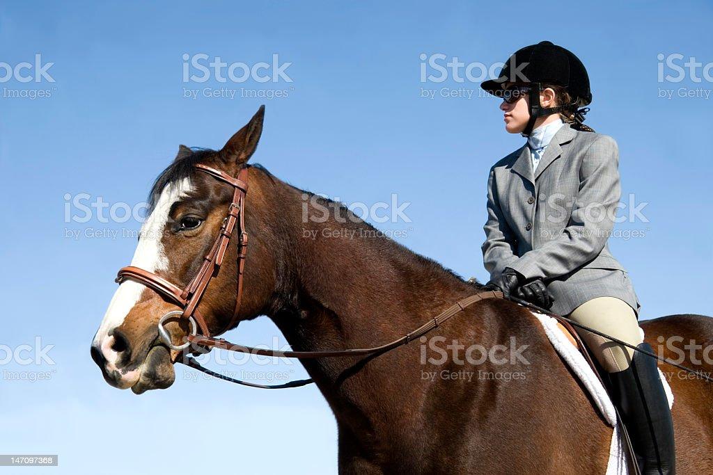 Photo Girl English Style Show Equitation stock photo