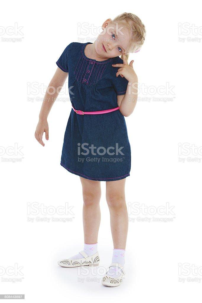 Fille dans le studio photo photo libre de droits