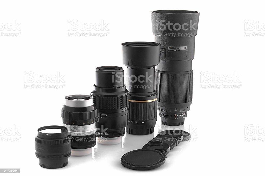Photo lenses stock photo