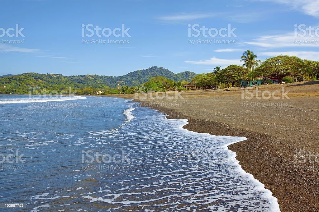 Photo of a beach in guanacaste royalty-free stock photo