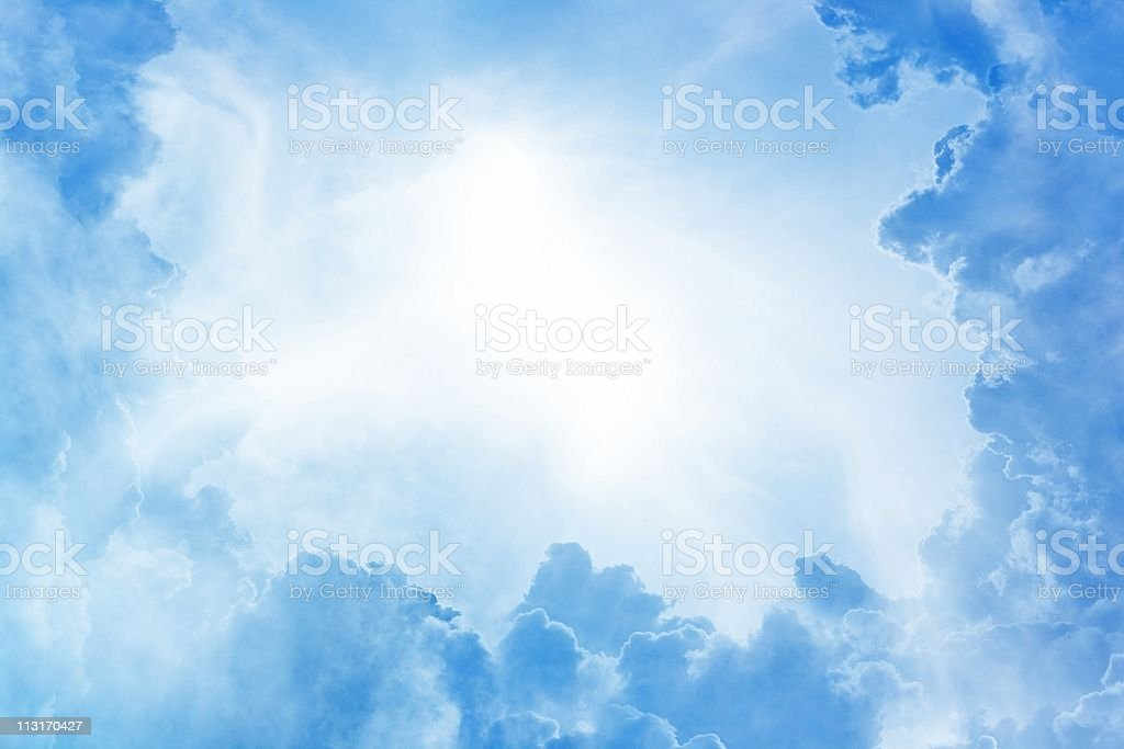 Photo of a beautiful blue sky and clouds royalty-free stock photo