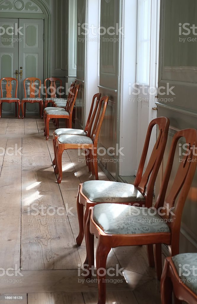A photo of a chairs in an old historical house royalty-free stock photo