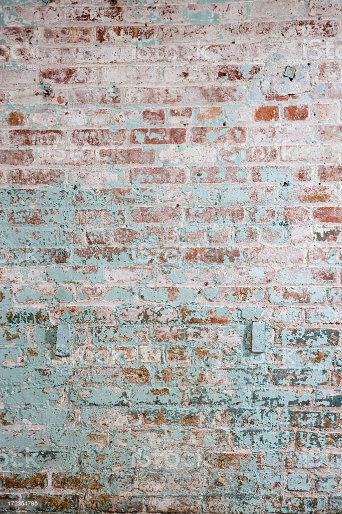 A photo of a colored brick wall stock photo
