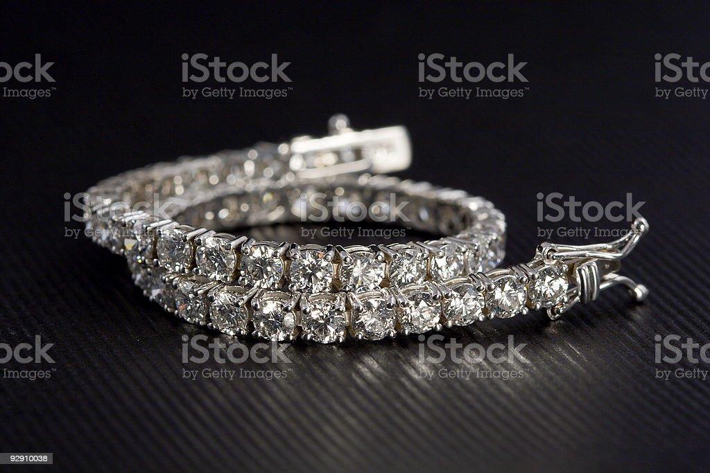 Photo of a Diamond Tennis Bracelet stock photo