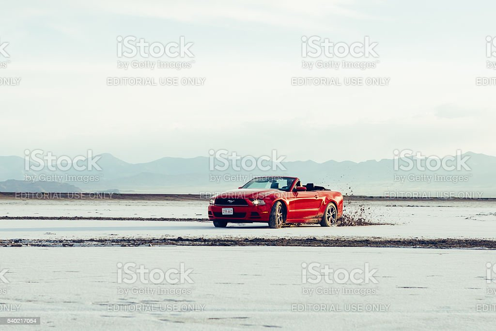 Photo of a Ford Mustang Convertible 2012 version stock photo