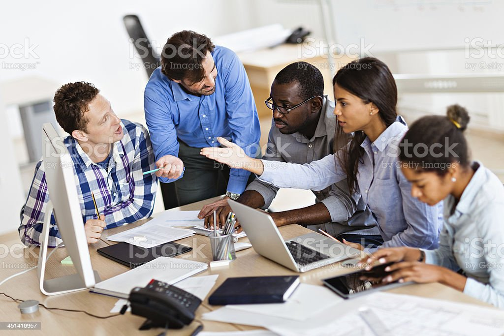Photo of a group of designers working together royalty-free stock photo