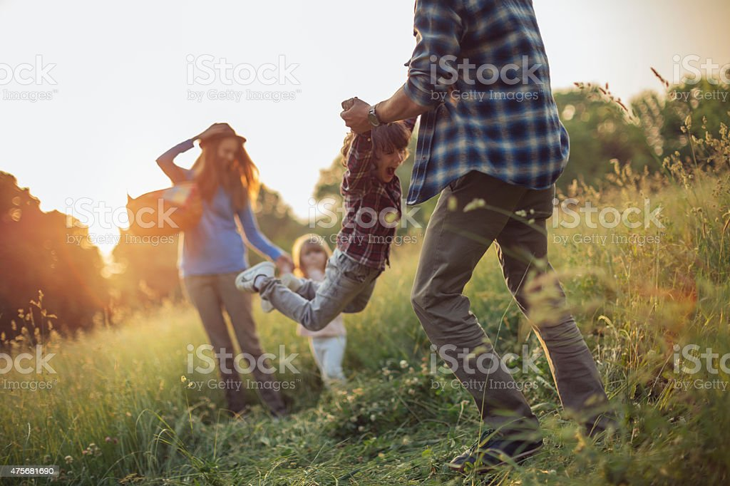Photo of a happy family stock photo