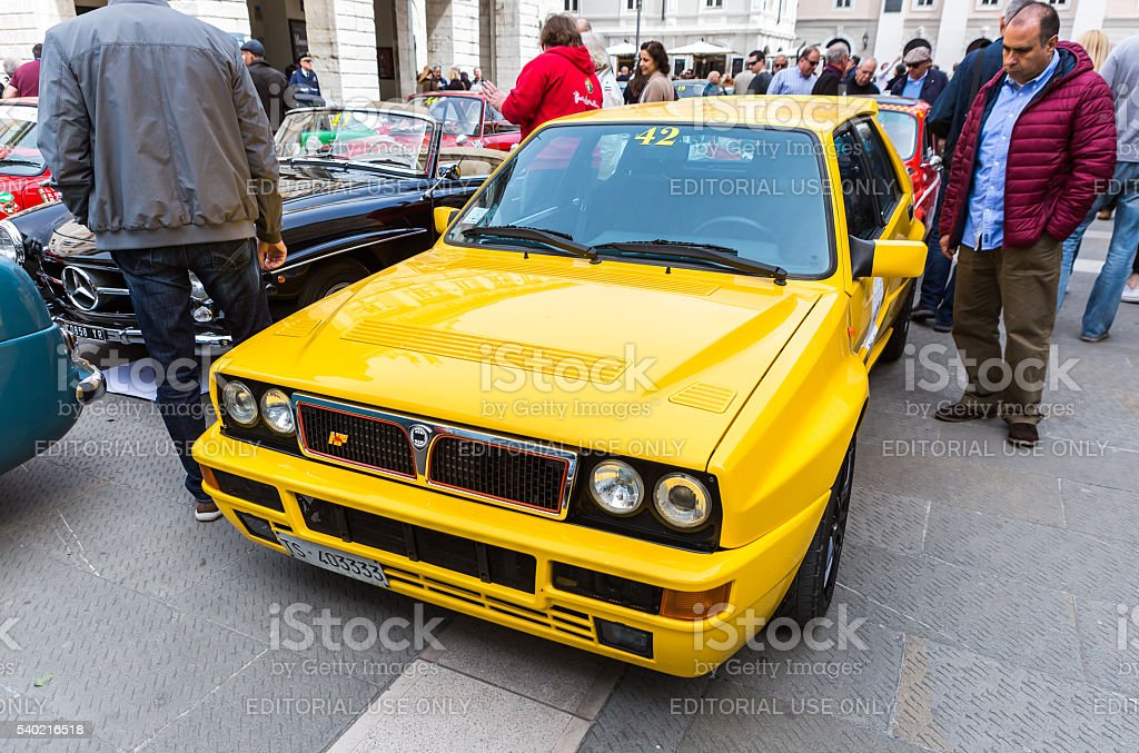 Photo of a Lancia Delta Evoluzione stock photo