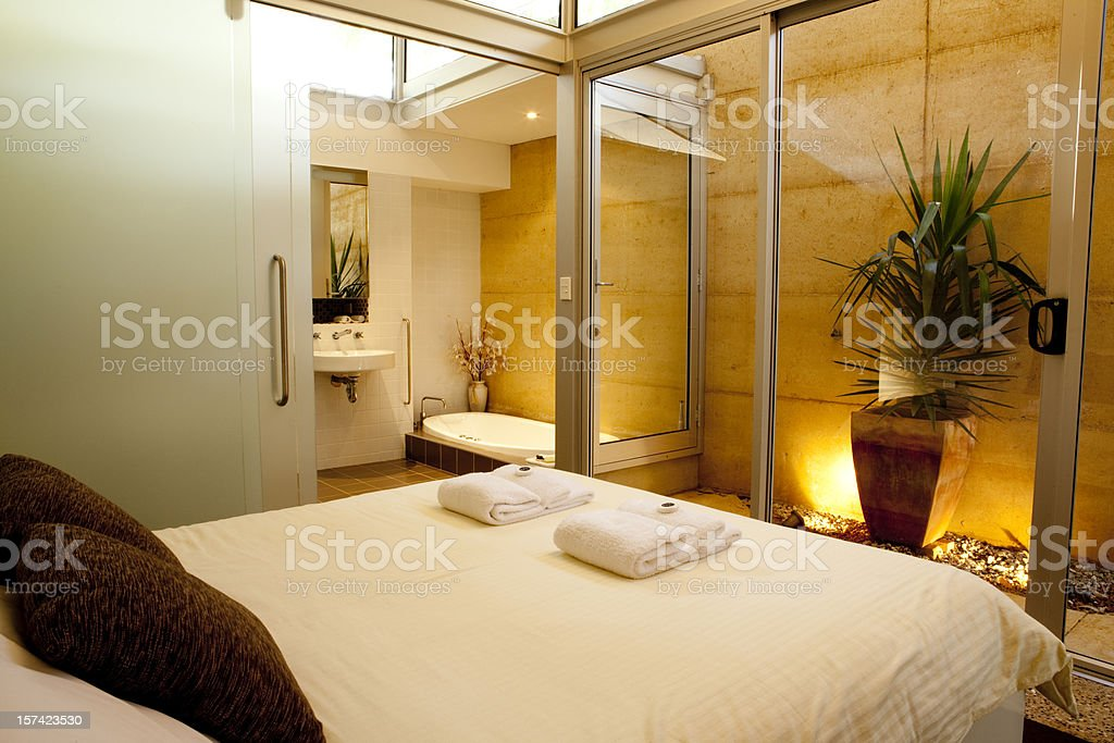 A photo of a large spa hotel room royalty-free stock photo