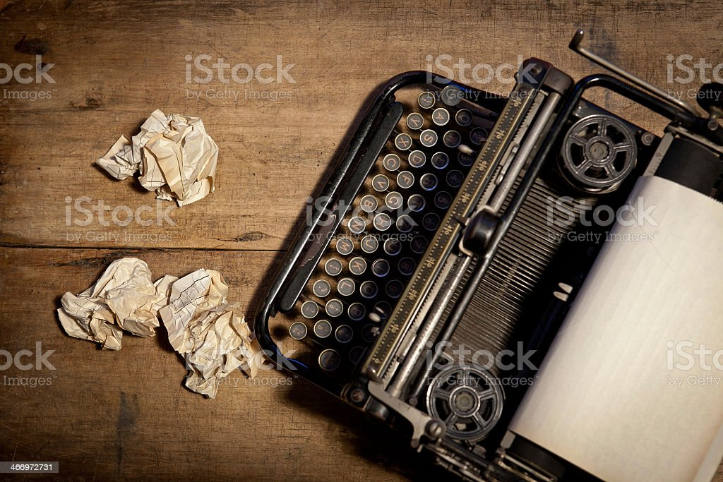 Photo of a mechanical typewriter  stock photo