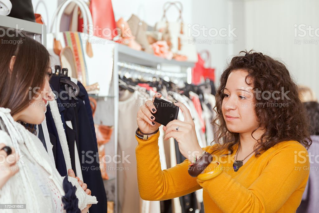 Photo of a new blouse royalty-free stock photo