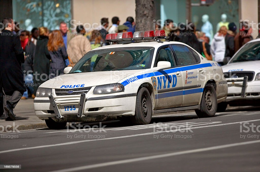 A photo of a police car, Manhattan, New York stock photo
